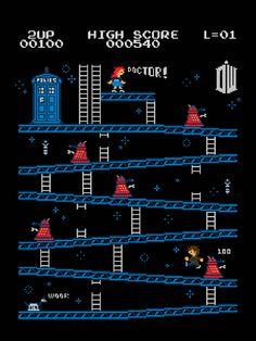 Donkey Kong / Doctor Who Mash Up 8-Bit Art by Baznet - Neatorama