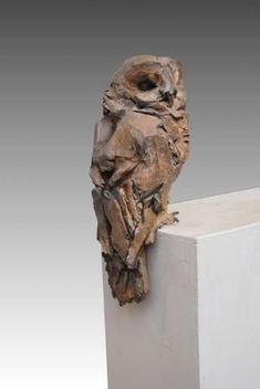 Jean-François Gambino owl, like the roughness of it… Driftwood Sculpture, Pottery Sculpture, Bird Sculpture, Driftwood Art, Pottery Art, Ceramic Animals, Ceramic Birds, Ceramic Art, Sculptures Céramiques