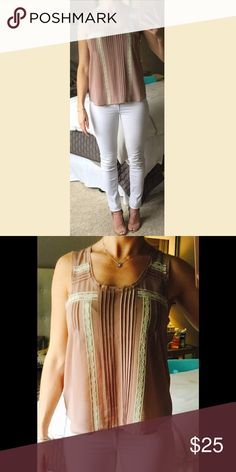 NWOT BEIGE & CREAM LACE TOP - S NWOT BEIGE & CREAM LACE TOP - S. Super cute and bought as a gift but didn't fit recipient. Ask for more pics! Tops