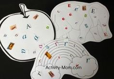 Free downloadable clip art for alphabet outlines... think up your own ideas! :)