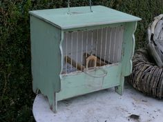 small old french birdcage