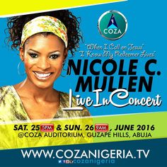 At COZA, we never get tired of worshiping & praising God because we have an understanding that we were created for God's pleasure.  Make it a date with God this Saturday, June 25th by 5pm and Sunday, June 26th by 9am for an undiluted worship experience with Nicole C. Mullen. We celebrate you! #ADateWithGod #Advance