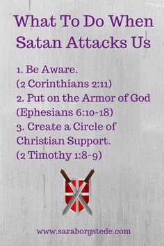 What To Do When Satan Attacks Us