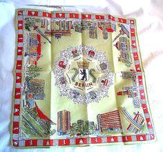 Bern Berlin Germany Vintage Handkerchief 1960's by FranciesFare