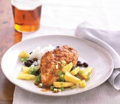 The flavors of the islands―jerk sauce, spiced rum, pineapple―infuse this recipe.