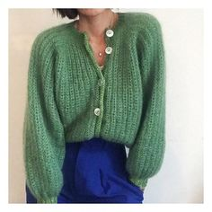 LILLE MY Strikkeopskrift Knitting by Brosbøl Henriksen Her Crochet Cardigan Pattern, Knit Cardigan, Knit Fashion, Fashion Outfits, Mohair Sweater, Couture, Fall Winter Outfits, Colorful Fashion, Knitwear