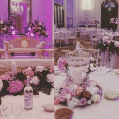 #tbtuesday Reception decor #langhamlondon #sapnacaterers  #weddingbirdcage #hydrangeas #wedding_inspiration #love #luxuryflorist #unifloraweddings www.uniflora.co.uk by uniflora