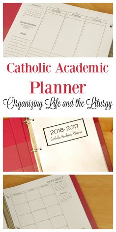 Instant Download Catholic Academic Planner.  Perfect for homeschoolers, moms, and other busy Catholics.  Includes liturgical observances, papal intentions, and Mass readings.  LOVE IT!