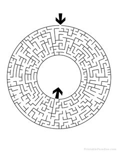 Print a wide variety Mazes for Free. Printable Mazes for all ages. Different Levels of Mazes in Printable Format. Printable Puzzles, Free Printables, Worksheets, Letters, Diy Crafts, Maze Runner, Occupational Therapy, Cnc, Games