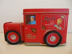 Red+Delivery+TruckTIN+TOY+Red+Mar's+Candy+Truck+by+MaggiesKlosets,+$30.00