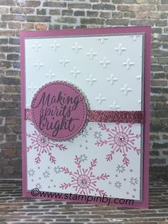Check out what stamp set that is on sale is used to create this card and see an alternate look on my blog #stampinbj.com