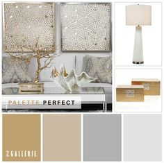 Benjamin Moore Paint Color Palette:  From left to right, Grenada Hills Gold, Bleeker Beige, Silent Night and Marilyn's Dress.  http://zgal.re/YF3X8Z