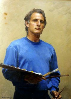Self Portrait - Robert Hannaford was born and bred in rural South Australia Australian Painters, Australian Artists, Artist Painting, Figure Painting, Portrait Art, Portrait Paintings, People Art, Cool Paintings, Oeuvre D'art