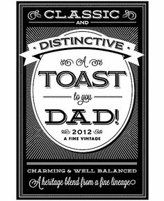 13 best wine labels images on pinterest visual arts artworks and wine label free printable toast to you dad from maxwellsz