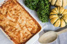 Dit recept is geïnspireerd op de klassieke lasagne Spanakopita, Base Foods, Plant Based Recipes, Apple Pie, Gluten Free, Vegetables, Health, Ethnic Recipes, Desserts