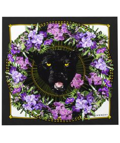 Black Panther Garland Silk Scarf, Givenchy. Shop the latest Givenchy collection at Liberty.co.uk