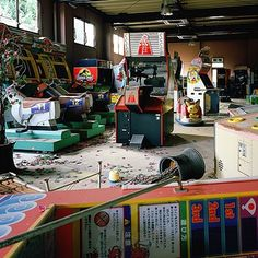 On instagram by ruthless_lavender #arcade #microhobbit (o) http://ift.tt/1P5WMr5 arcade. Kodak Ektar #mamiya7 #kodak #ektar100  #naradreamland #ishootfilm #filmisnotdead #urbex #decay #urbex_rebels #grime_lords #japan_urbex #haikyo #abandoned