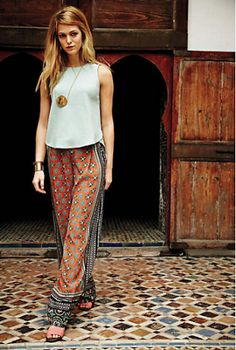 Really like thesepants....pattern is a lot but I like them nyway. With a solid top, it's a great outfit.