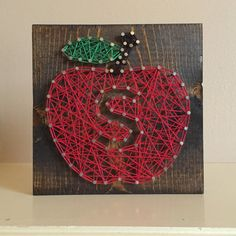 Teacher Gift apple string art by Kimsheartstrings on Etsy