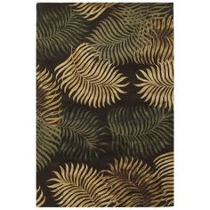 Kas Rugs Giant Fern Espresso 3 ft. 3 in. x 5 ft. 3 in. Area Rug-HAV261733X53 at The Home Depot