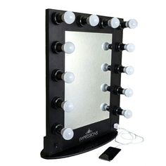 """The """"Hollywood Glam Mirror"""" is Simply Elegant and Bold, it'll fit in perfectly even in compact spaces! #vanitymirror #vanitylights"""