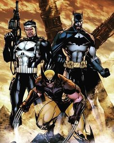 #punisher #batman #wolverine legends