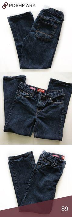 Arizona Jeans Boys Original cut denim jeans with adjustable waistband. Dark wash. Hardly worn. Excellent Used Condition. Boys 16 Husky Arizona Jean Company Bottoms Jeans