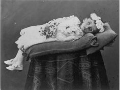 Victorian Dead Propped Up | This poor child looks like she had been ill for a long time before her ...