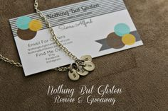 Nothing But Glisten Initial Necklace Review & Giveaway  Life's A Dance