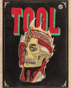 Tool Poster, Rock Y Metal, Tool Band, Pearl Jam, Music Bands, Good Music, Cover Art, Canvas Art, Ink