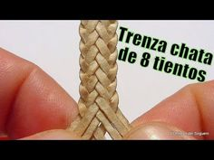 """Trenza de 8 (chata) """"El Rincón del Soguero"""" - YouTube Sewing Leather, Leather And Lace, Leather Craft, Straw Weaving, Wire Weaving, Leather Tutorial, Beaded Jewelry Designs, Leather Gifts, Sterling Silver Cuff Bracelet"""