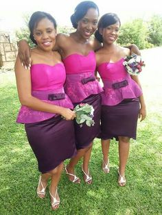 Veronica mucheleka Bridesmaid Tops, African Bridesmaid Dresses, African Wedding Attire, African Print Dresses, African Attire, African Fashion Dresses, African Dress, Latest Traditional Dresses, Traditional Wedding Dresses