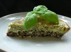Slow Carb Spinach Quiche with Lentil crust. One of my FAVORITE diet meals.
