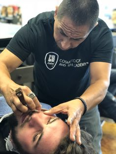 Teaching barbers how to shave Barber School, Barbers, Shaving, Rings For Men, Wedding Rings, Engagement Rings, Teaching, Enagement Rings, Men Rings