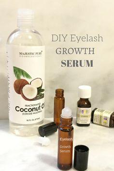 DIY eyelash growth serum with lemon and lavender essential oils