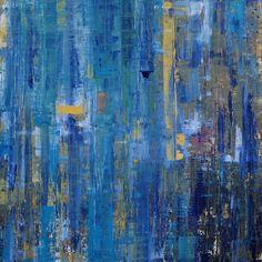 """Blue Dreams"" Large Mixed Media ( acrylics & metallics) on canvas"