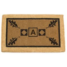 """Geo Crafts Imperial Border Doormat Rug Size: 24"""" x 39"""", Letter: A"""