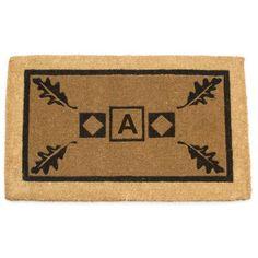 "Geo Crafts Imperial Border Doormat Rug Size: 24"" x 39"", Letter: D"