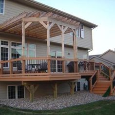raised-deck-with-pergola.jpg this would look good in my backyard with a pergola on the side overhang as well. Diy Pergola, Pergola Decorations, Building A Pergola, Wood Pergola, Small Pergola, Pergola Swing, Deck With Pergola, Cheap Pergola, Covered Pergola