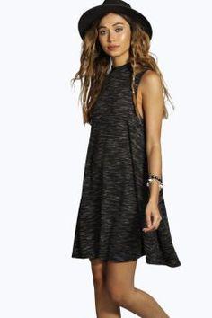 Lola Rib Swing Dress at boohoo.com
