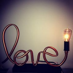 Love Copper Pipe Lamp // Exposed Edison Bulb