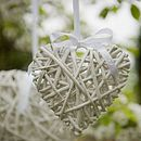 Wicker hearts - alternate these with flowers on pew ends to add some variety in the church