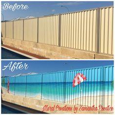 Beach Fence Murals | Mural Creations