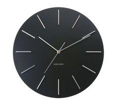 Väggklocka - Karlsson Delicate Round Black
