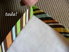 Tutorial on the final step (binding) in making a quilt