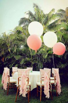 Chiavari Chair decoration, Wedding party balloon, private garden wedding