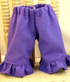 Grape Purple Ruffle Jeans for 15 and 16 inch by sistersdollclothes, $7.00