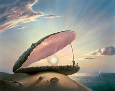 ostracismo ~ ostra ~ pérola (Ilustração: Vladimir Kush) ostracism ~ oyster ~ pearl (Illustration: Vladimir Kush)