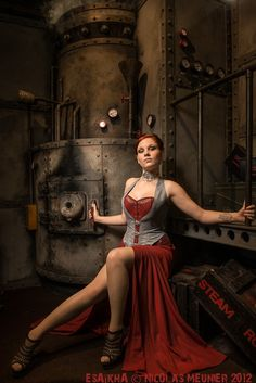 Safari Steampunk Anyone? Steampunk is a rapidly growing subculture of science fiction and fashion. Chat Steampunk, Style Steampunk, Steampunk Pirate, Steampunk Couture, Steampunk Cosplay, Gothic Steampunk, Steampunk Clothing, Steampunk Fashion, Gothic Fashion