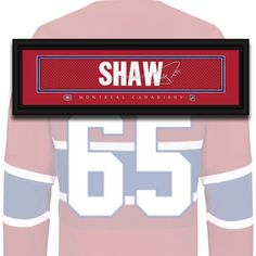 Montreal Canadiens - Andrew Shaw - NHL Jersey Name Print